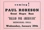 Paul Robeson Concert